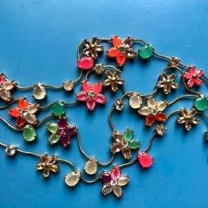 Kate Spade Multicolor Floral Tiered Necklace